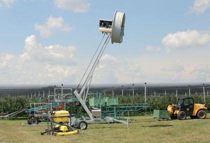 A szélgép a KITE bemutatóján