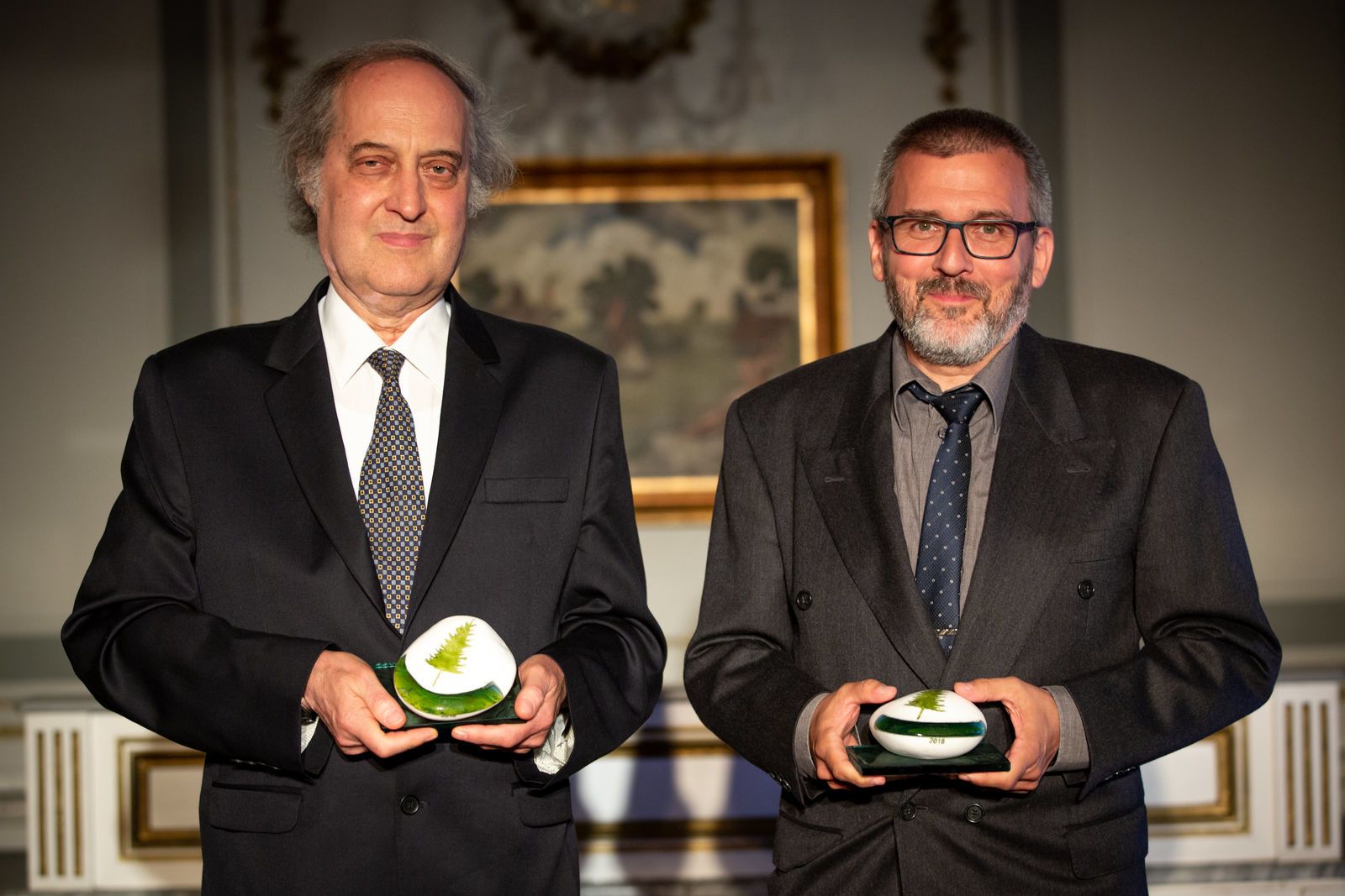 A 2018-as Gran Prize díjazottai balról jobbra: Dr. Mizsey Péter és Weeber István.