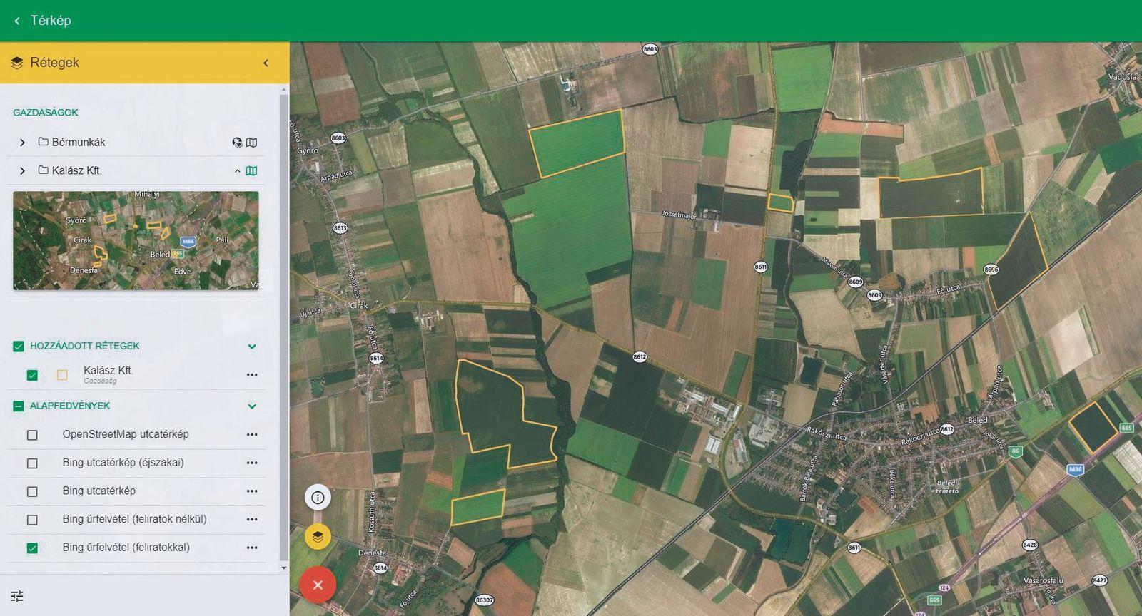 A betöltött adatokból automatikusan térképek készülnek