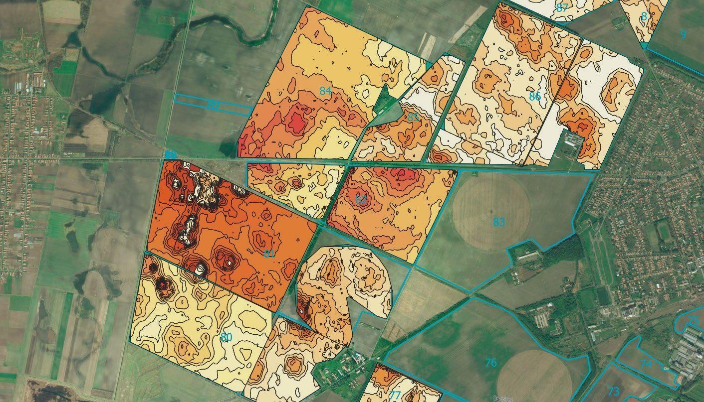 Talajszkenneres termőzóna-lehatárolás térképe
